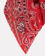 Bandana Chainmail Shoulder Bag, RED, hi-res