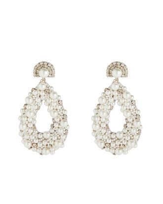 Deepa By Deepa Gurnani Arabella Earrings, WHITE, hi-res