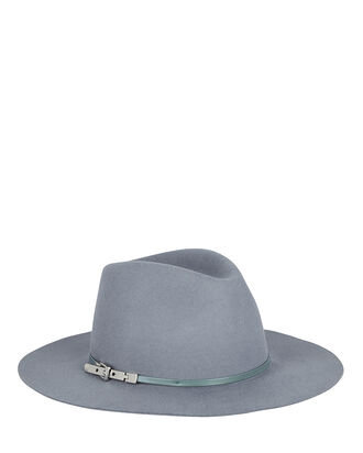 Georgina Wool Fedora, BLUE, hi-res