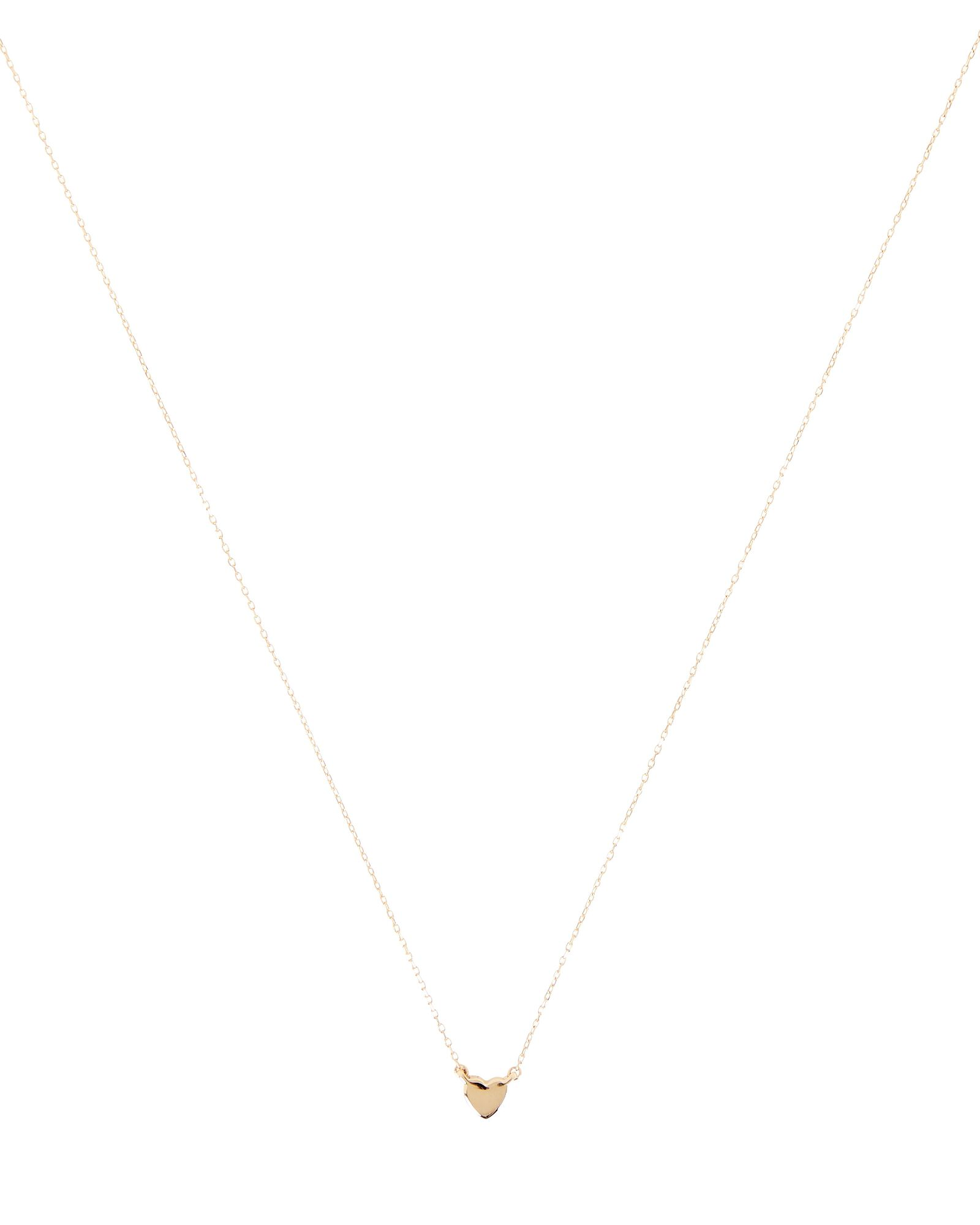 Super Tiny Puffy Heart Necklace, GOLD, hi-res