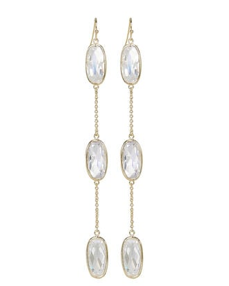 Triple Oval Drop Earrings, GOLD/CRYSTAL, hi-res
