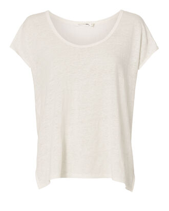 Rugby Linen Tee, WHITE, hi-res