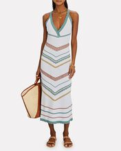 Allia Pointelle Knit Midi Dress, WHITE, hi-res
