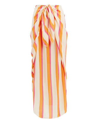 Nuella Bora Striped Midi Skirt, YELLOW/PINK/WHITE STRIPES, hi-res