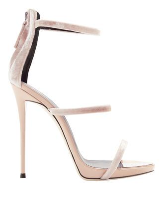 Coline Velvet Strappy Sandals, BLUSH/NUDE, hi-res