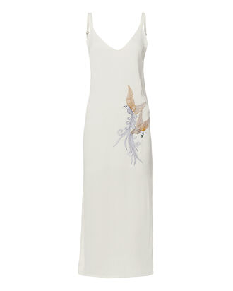 Nixon Bird Embroidered Slip Dress, WHITE, hi-res