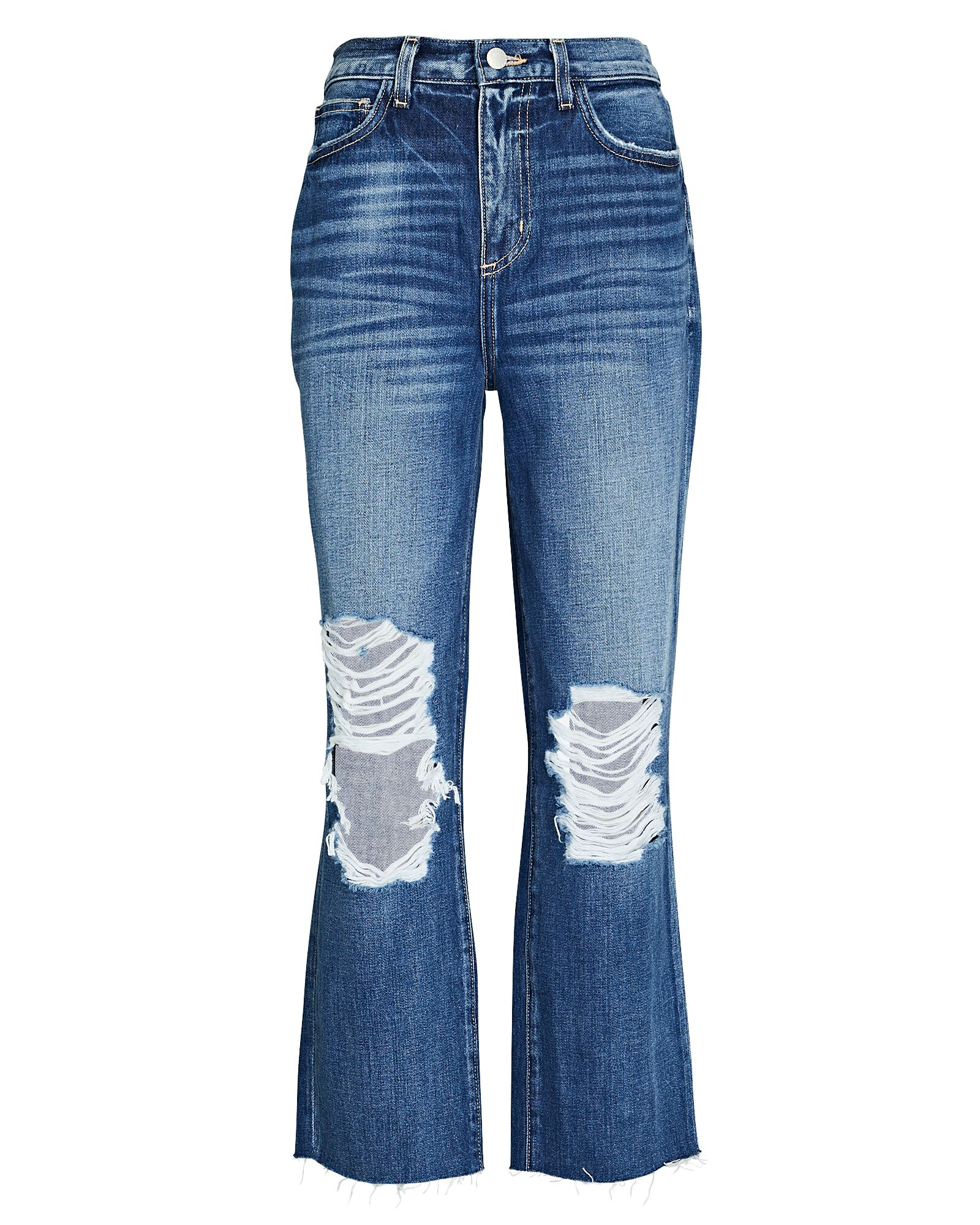 Adele Distressed Stovepipe Jeans, NEWBERRY, hi-res