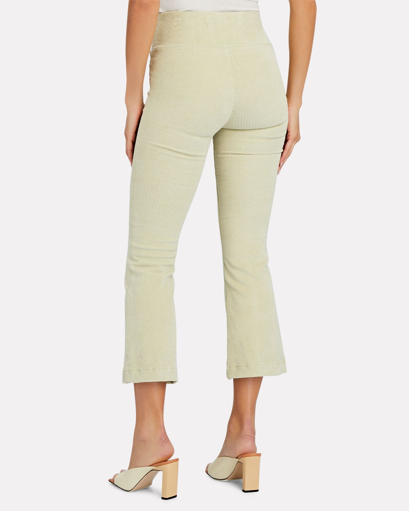 Ankle Flare Corduroy Leggings, IVORY, hi-res