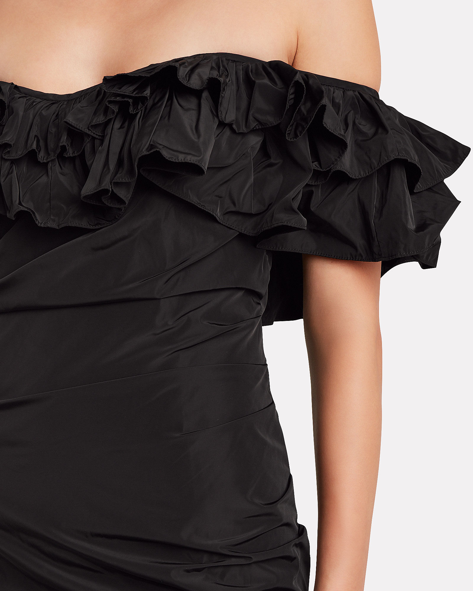 Benicia Ruffled Party Dress, BLACK, hi-res