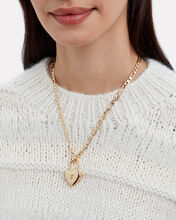 Heart Padlock Necklace, GOLD, hi-res