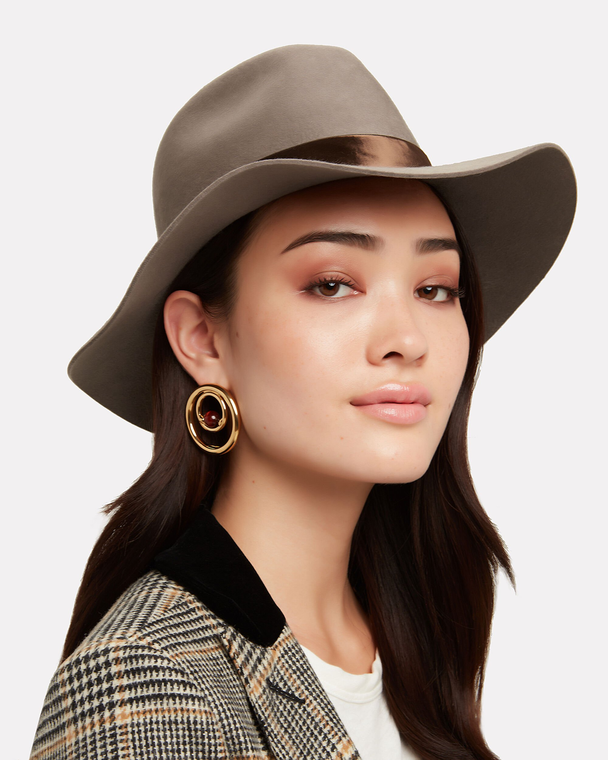 Georgina Brown Fedora, BROWN, hi-res