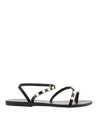 Apli Eleftheria Pearl Detail Sandals, BLACK, hi-res