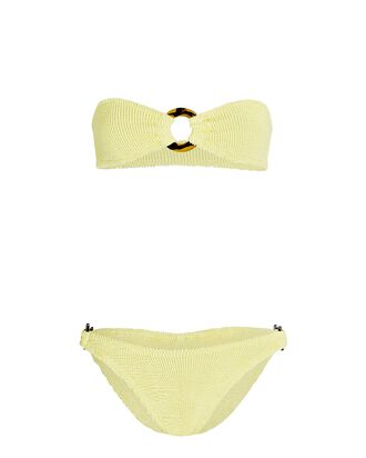 Gloria Bandeau Bikini Set, YELLOW, hi-res
