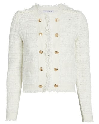 Lila Cropped Knit Jacket, IVORY, hi-res