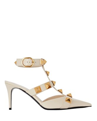 Roman Stud Leather Pumps, IVORY, hi-res