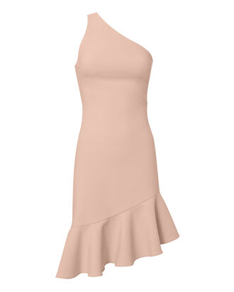 Stella One Shoulder Dress, PINK, hi-res