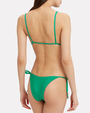 Lost City Side Tie Bikini Bottom, GREEN, hi-res