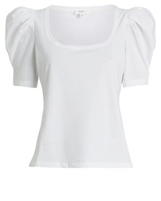Rumi Puff Sleeve T-Shirt, WHITE, hi-res