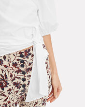 Olayan Poplin Wrap Top, WHITE, hi-res