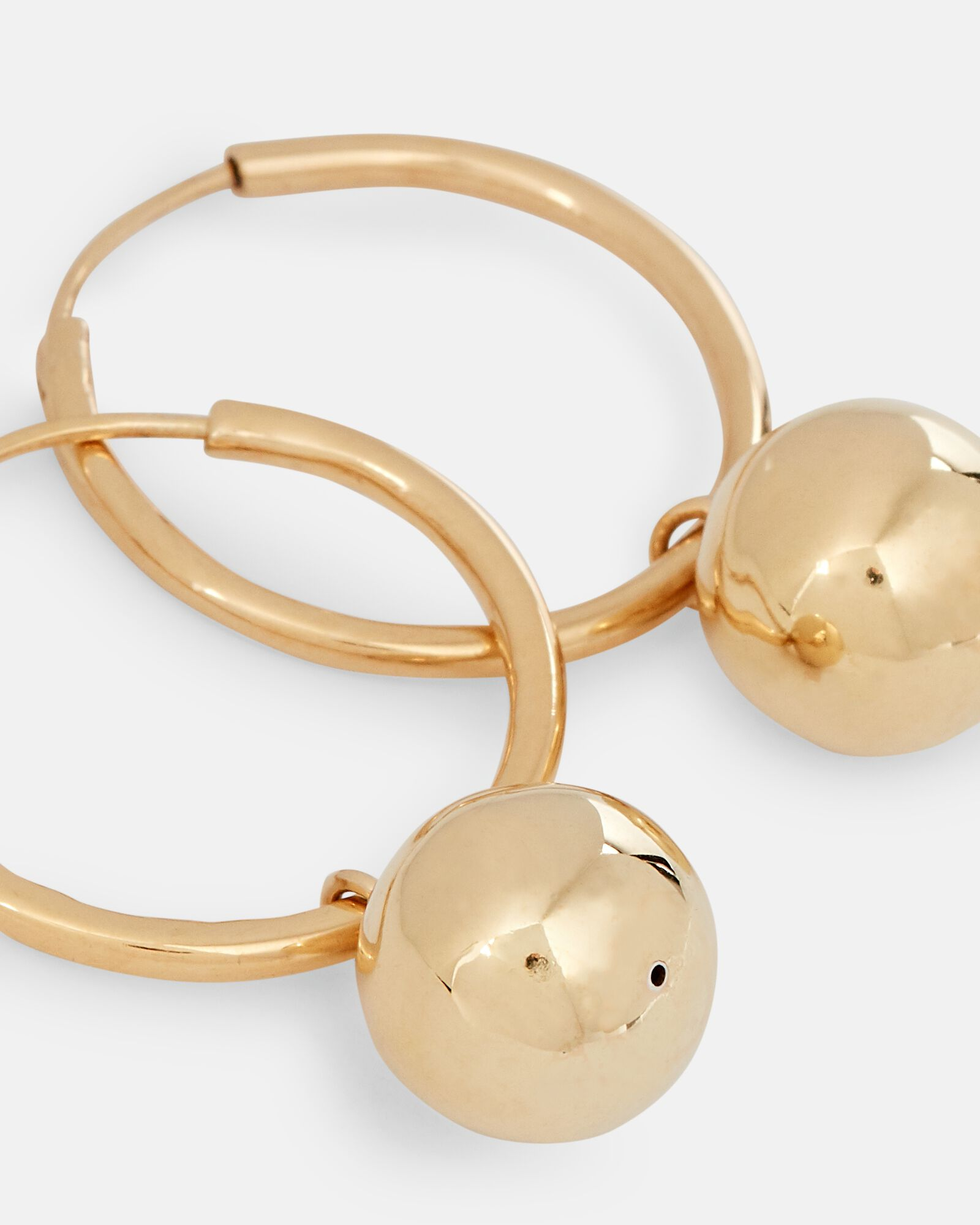 Disco Hoop Earrings, GOLD, hi-res