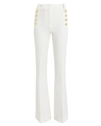 Robertson Sailor Flare Trousers, WHITE, hi-res