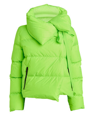 Puffa Quilted Puffer Jacket, GREEN, hi-res