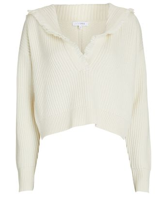 Caitlin Hooded Wool-Cashmere Sweater, IVORY, hi-res