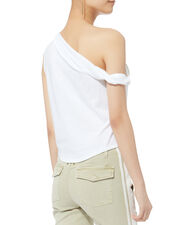 Bare Shoulder Twist Tank, WHITE, hi-res