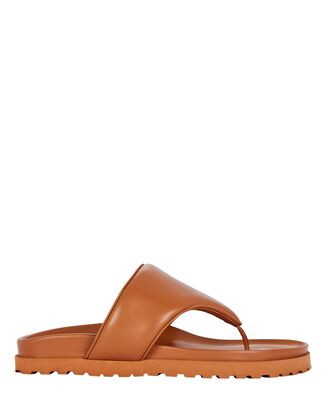 x Pernille Teisbaek Puffer Thong Sandals, BROWN, hi-res