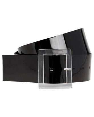 Patent Leather Waist Belt, BLACK, hi-res