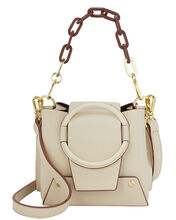 Delila Beige Two-Tone Chain Bag, IVORY, hi-res