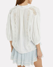 Cali Lace Blouse, WHITE, hi-res