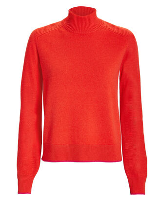 Yorke Turtleneck Cashmere Sweater, RED, hi-res