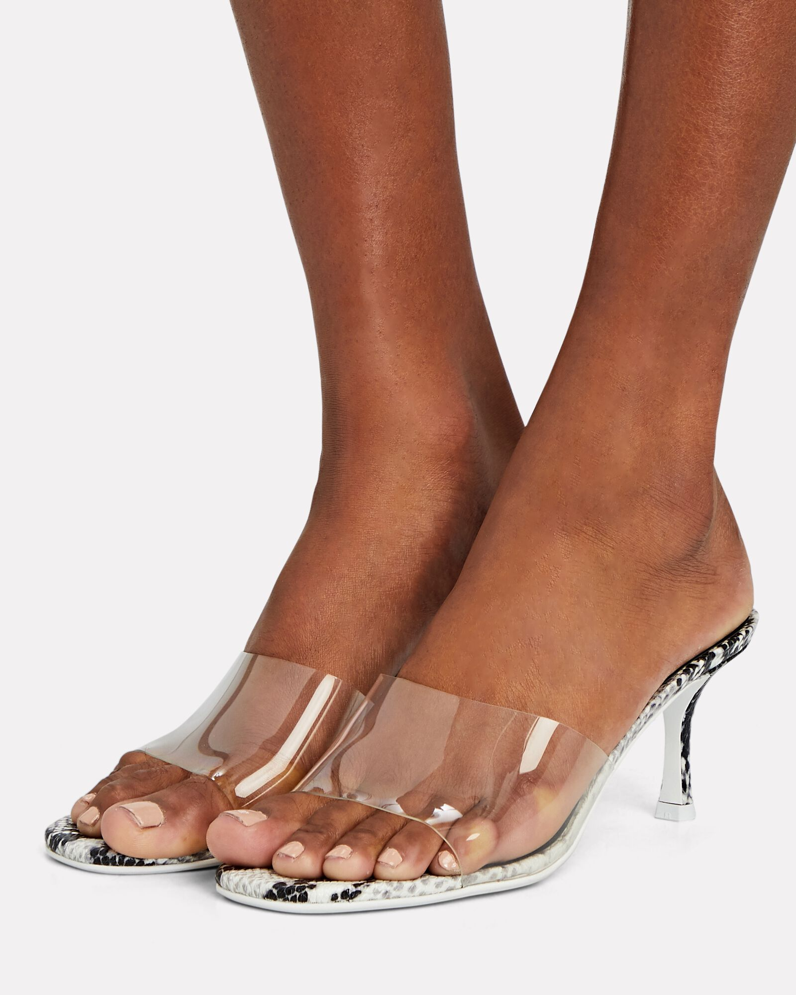 Peri II PVC Slide Sandals, WHITE, hi-res