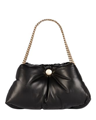 Tobo Leather Puffy Chain Bag, BLACK, hi-res