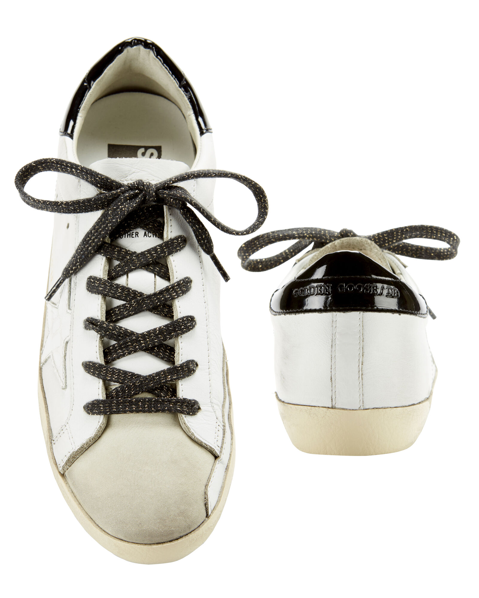 Superstar Crocodile Star White Leather Sneakers, WHITE, hi-res