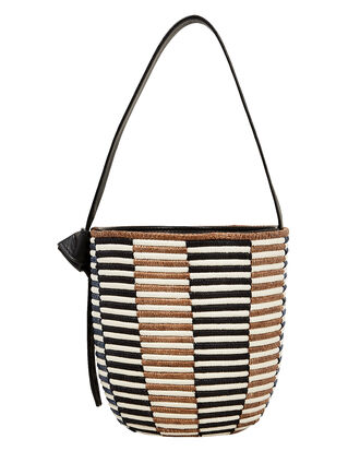 Breton Bucket Bag, BLACK/BROWN/NAVY, hi-res