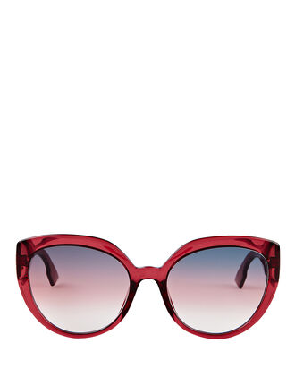 DDiorF Cat Eye Sunglasses, RED, hi-res