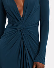 In A Mood Draped Jersey Gown, NAVY, hi-res
