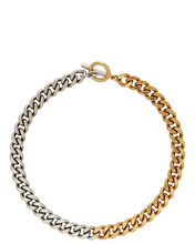 Venus Mixed Chain-Link Necklace, SILVER/GOLD, hi-res