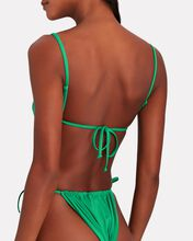 Ruched Underwire Bikini Top, GREEN, hi-res