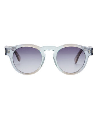 Leonard Rounded Mirror Sunglasses, AQUAMARINE, hi-res