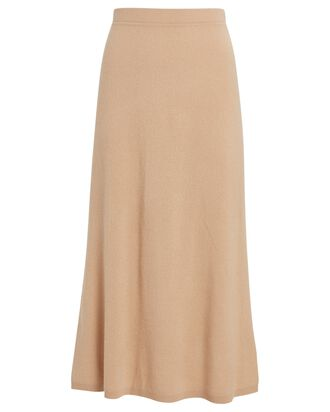June Cashmere Midi Skirt, BEIGE, hi-res