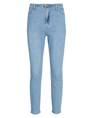 Darted High-Rise Skinny Jeans, DOMINA, hi-res