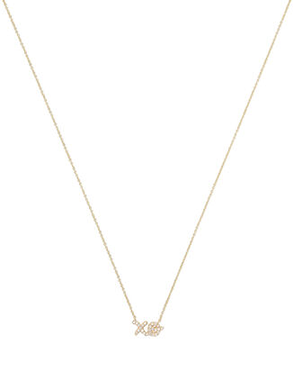 XO Diamond Necklace, GOLD, hi-res