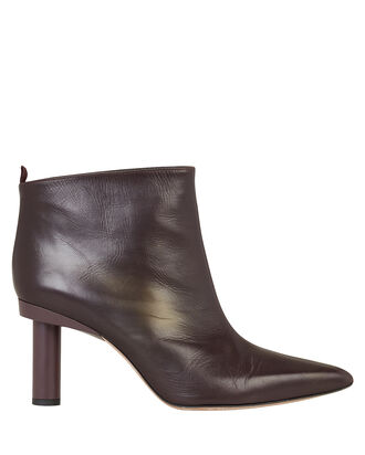 Theo Leather Booties, PLUM, hi-res