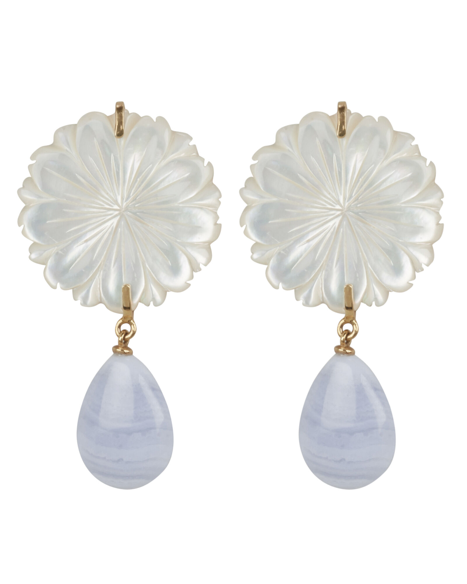 Wild Marquis Agate Earrings, GOLD, hi-res