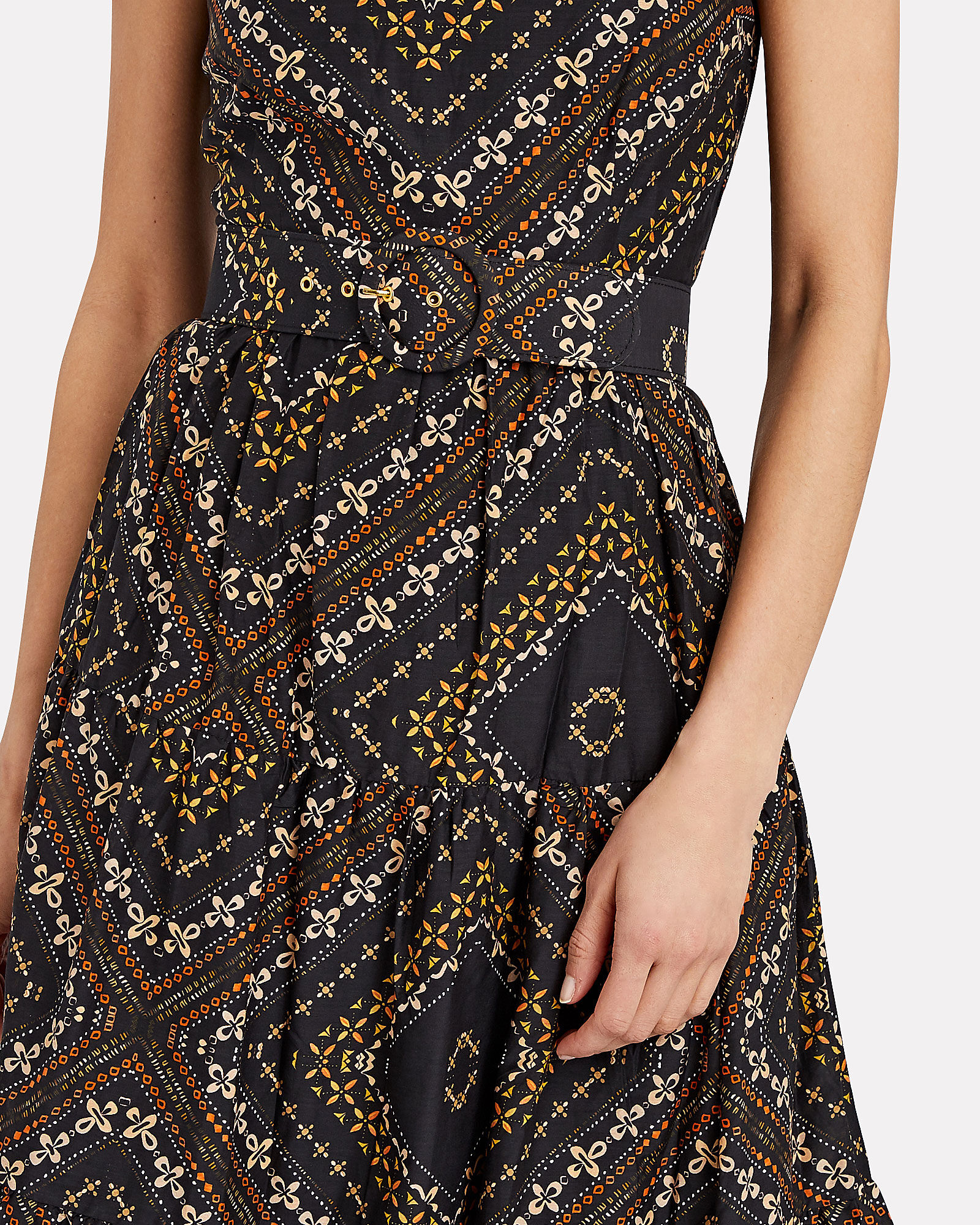 Kerala Silk-Cotton Maxi Dress, BROWN, hi-res
