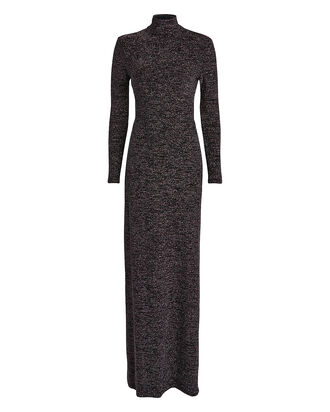 Kareela Open Back Lurex Knit Dress, BLACK, hi-res