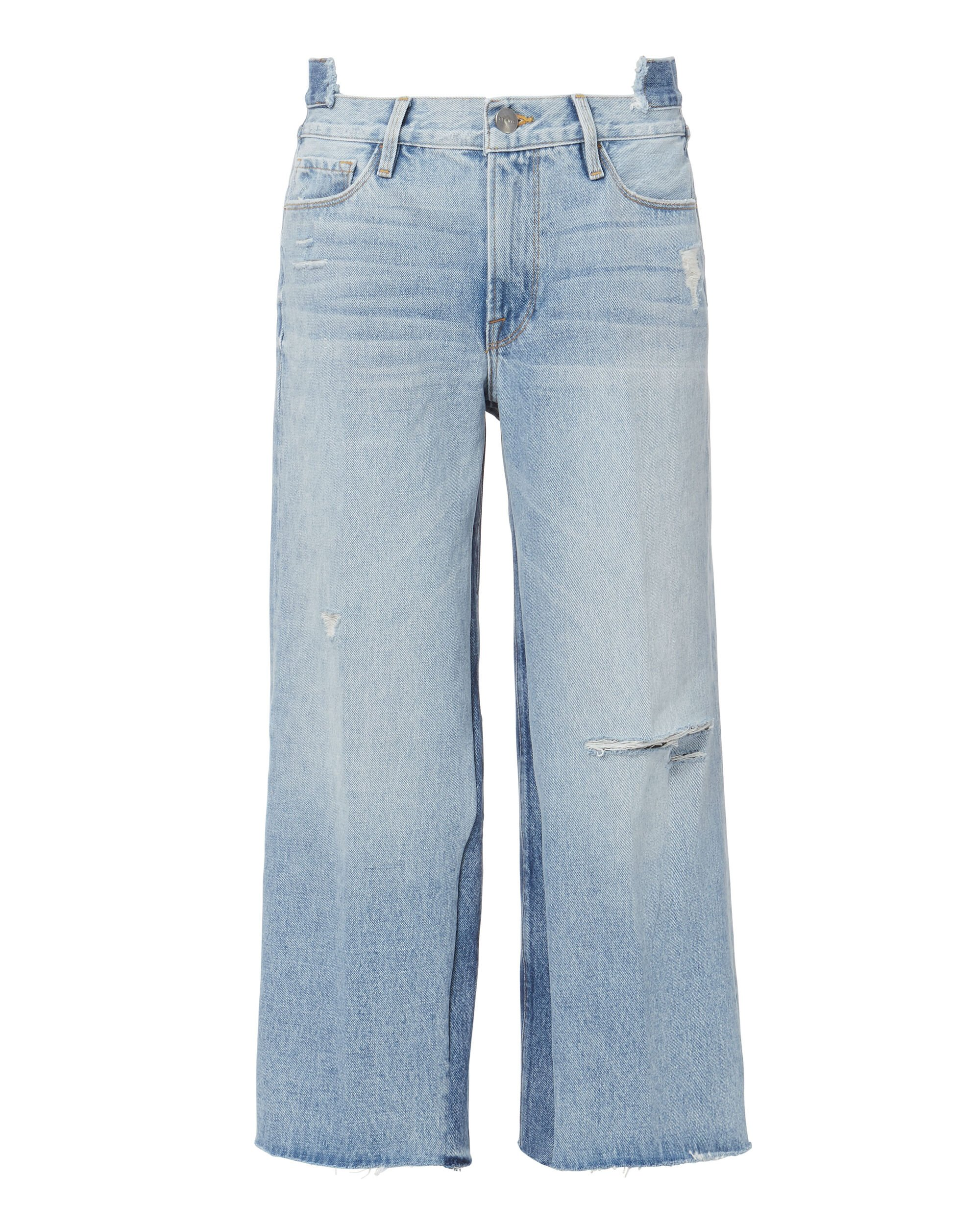 Le Reconstructed Cropped Wide Leg Jeans, DENIM-LT 3, hi-res
